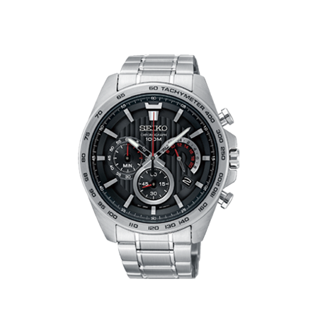 silver mens watch